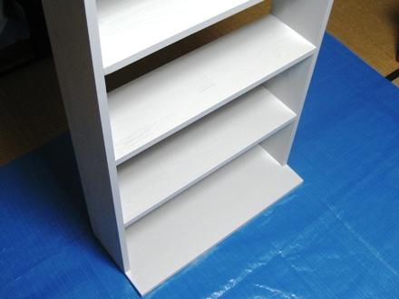 自作本棚の塗装