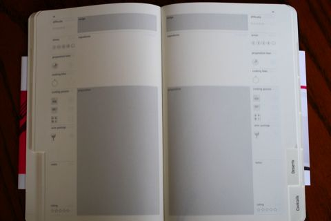 MOLESKINE パッションコレクション レシピジャーナル メインページ