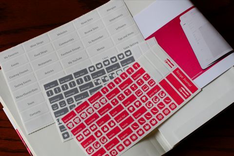 MOLESKINE パッションコレクション レシピジャーナル シール