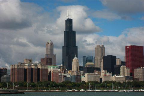 イースト・ソリダリティ・ドライブから見たシカゴの街