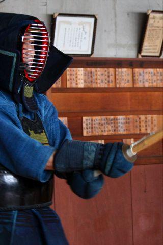 剣道で息子と対戦