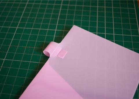 pen holder + clear folder, holder part