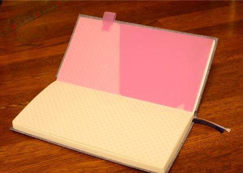 pen holder + clear folder, view