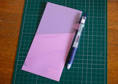 pen holder + clear folder