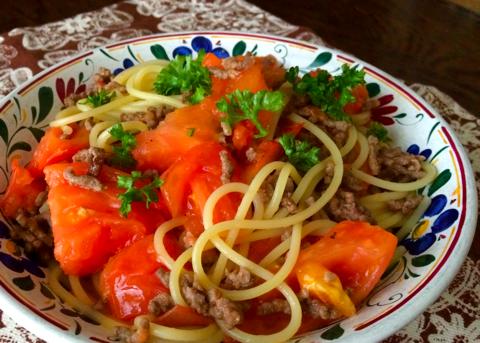 tomato meat spagetti