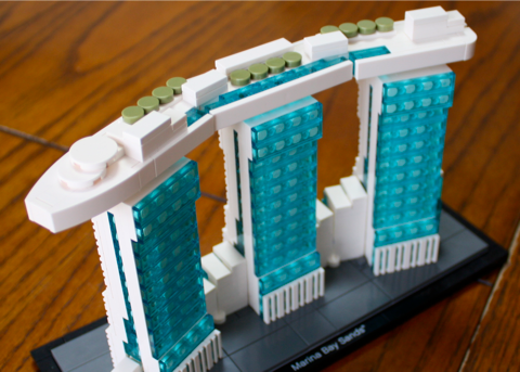 LEGO Marina Bay Sands 上からの眺め