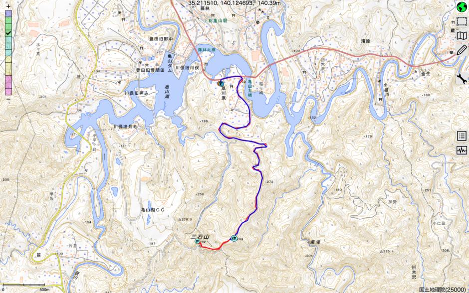 三石山ルート