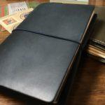 travelers notebook passport size blue